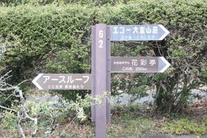 R135池入口交差点から約2キロの位置右手に分譲地の看板があります。これを見たら右に曲がります